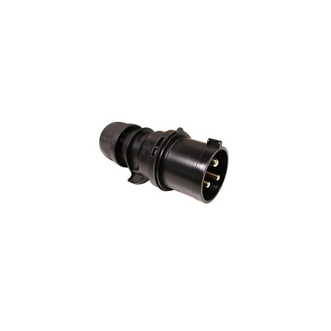 PCE Midnight Series Black Commando Plug 32A 2P+E 230V IP44