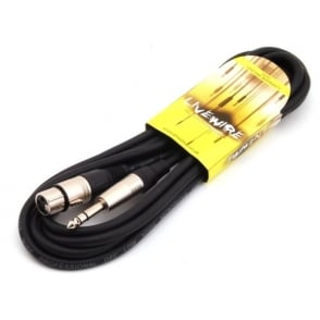 6 meter 6.35mm Stereo Jack - Female XLR