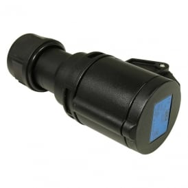 Midnight Series Black Commando Socket 32A 2P+E 230V IP44